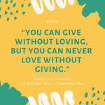 Quote - Lova and Giving
